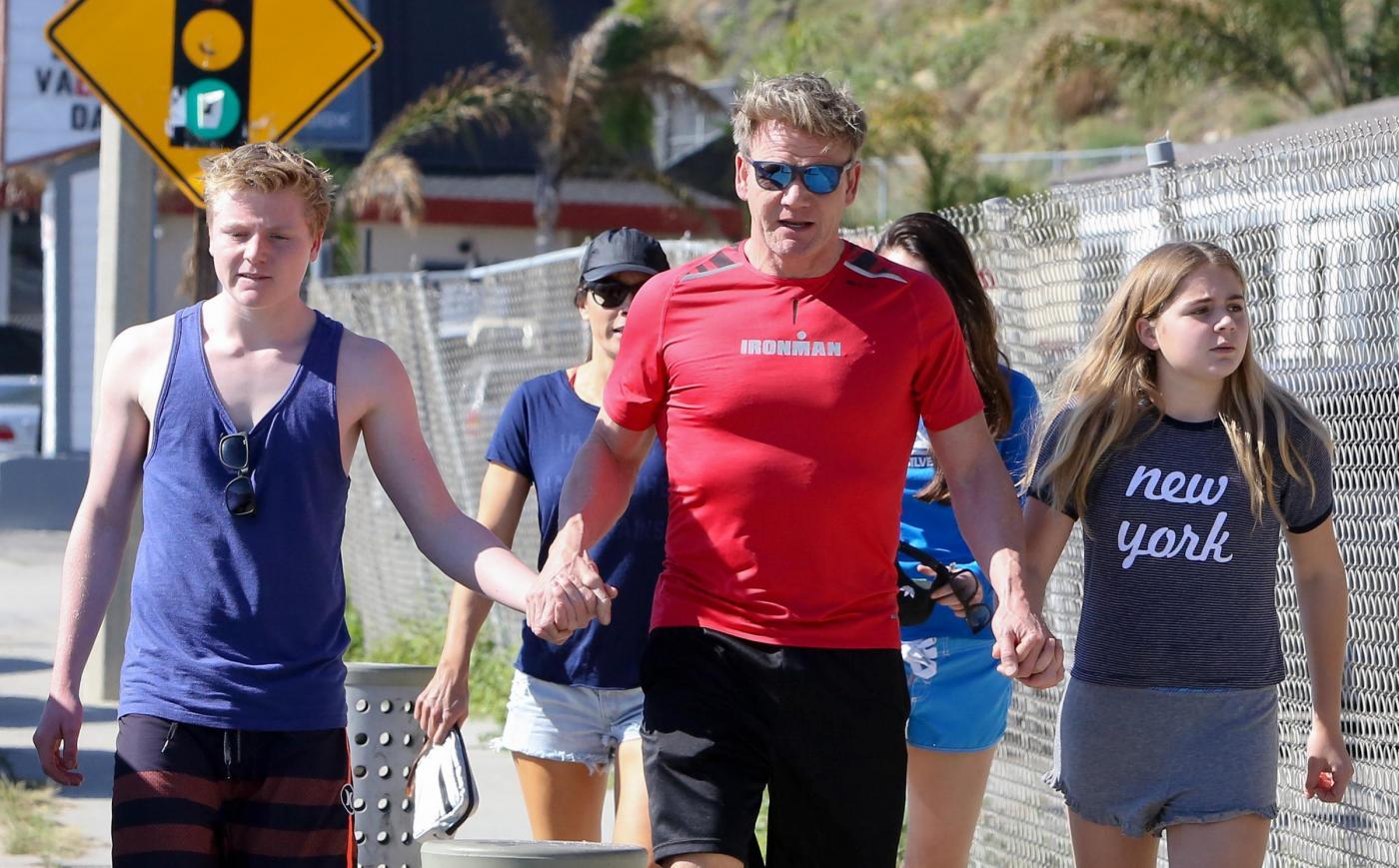 Gordon Ramsay con la famiglia