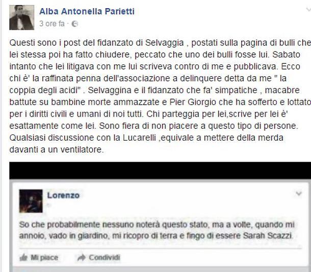 Parietti vs Lucarelli