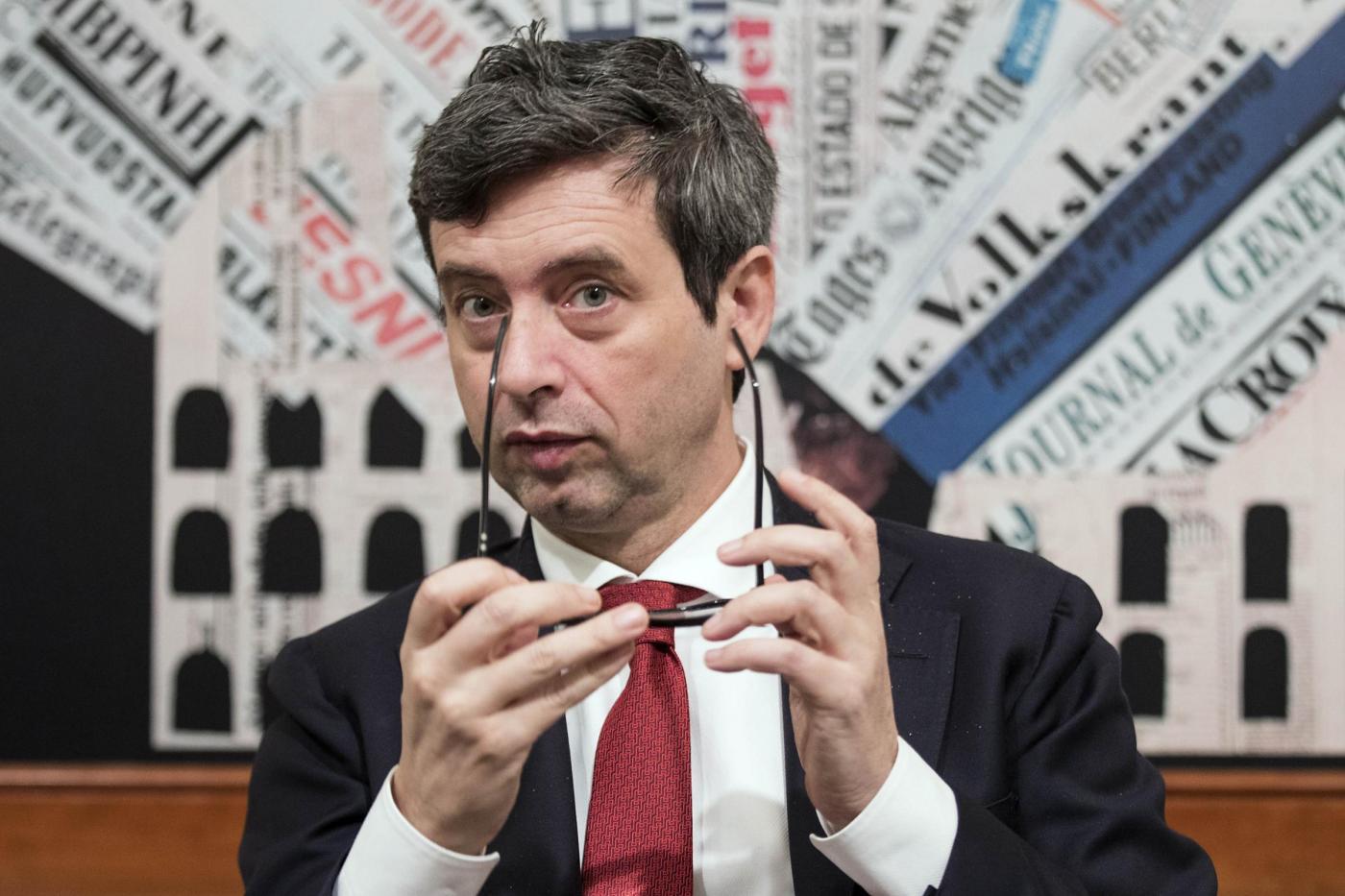 Conferenza stampa di Andrea Orlando alla Stampa Estera