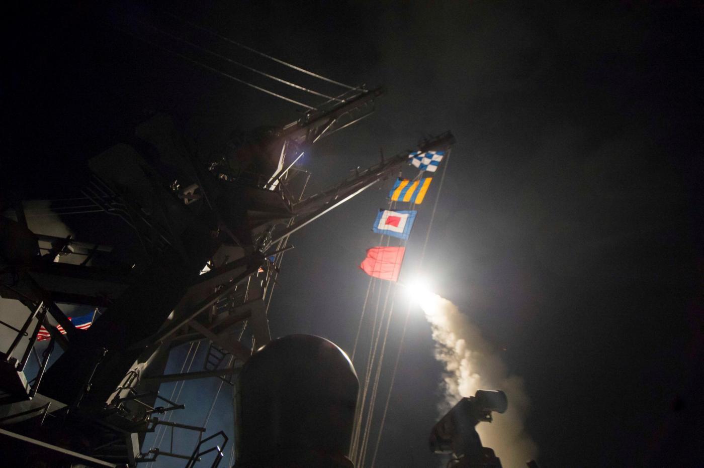 Attacco USA in Siria: il lancio dei missili dal mar mediterraneo