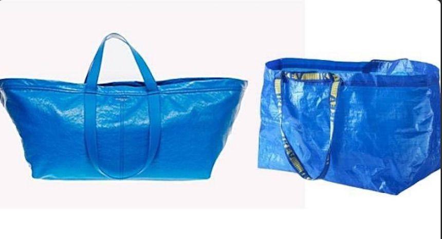 Balenciaga firma la versione di lusso della borsa Ikea