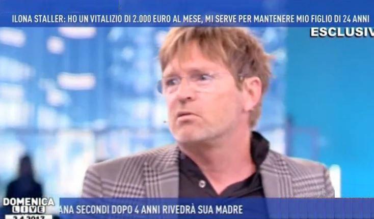 Domenica Live: rissa tra Filippo Facci e l'avvocato di Ilona Staller