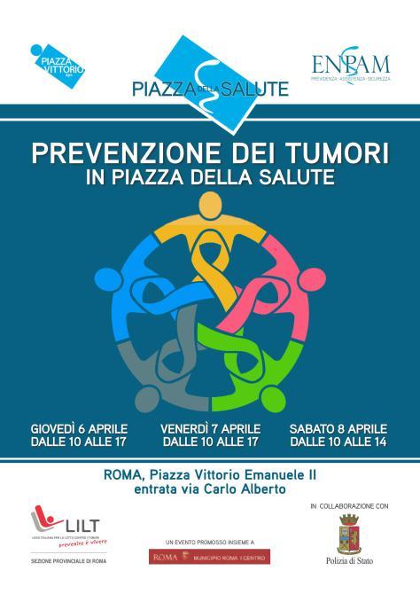 Prevenzione dei Tumori, a Roma in Piazza della Salute Lilt e Enpam offrono visite gratis per la diagnosi precoce