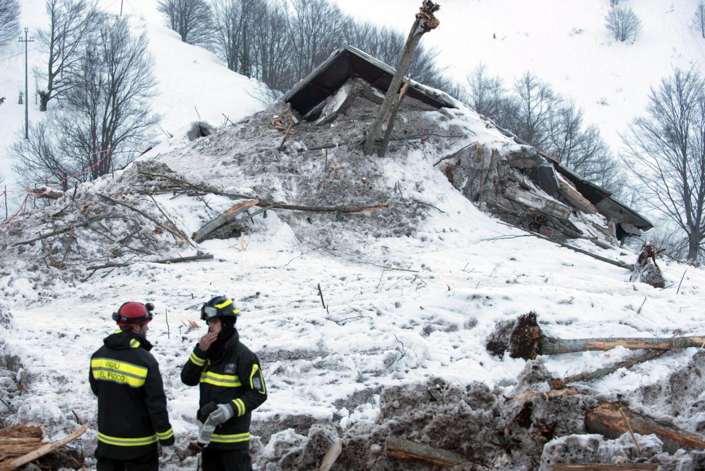 Hotel Rigopiano, le macerie del resort devastato dalla slavina