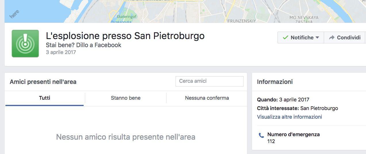 safety check facebook san pietroburgo