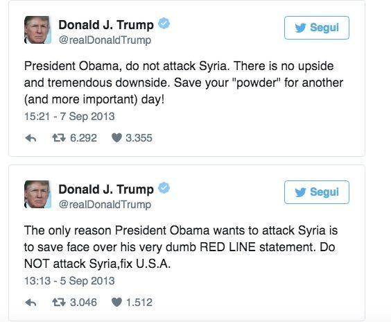 Attacco USA in Siria, quando Trump chiedeva a Obama di non bombardare Assad