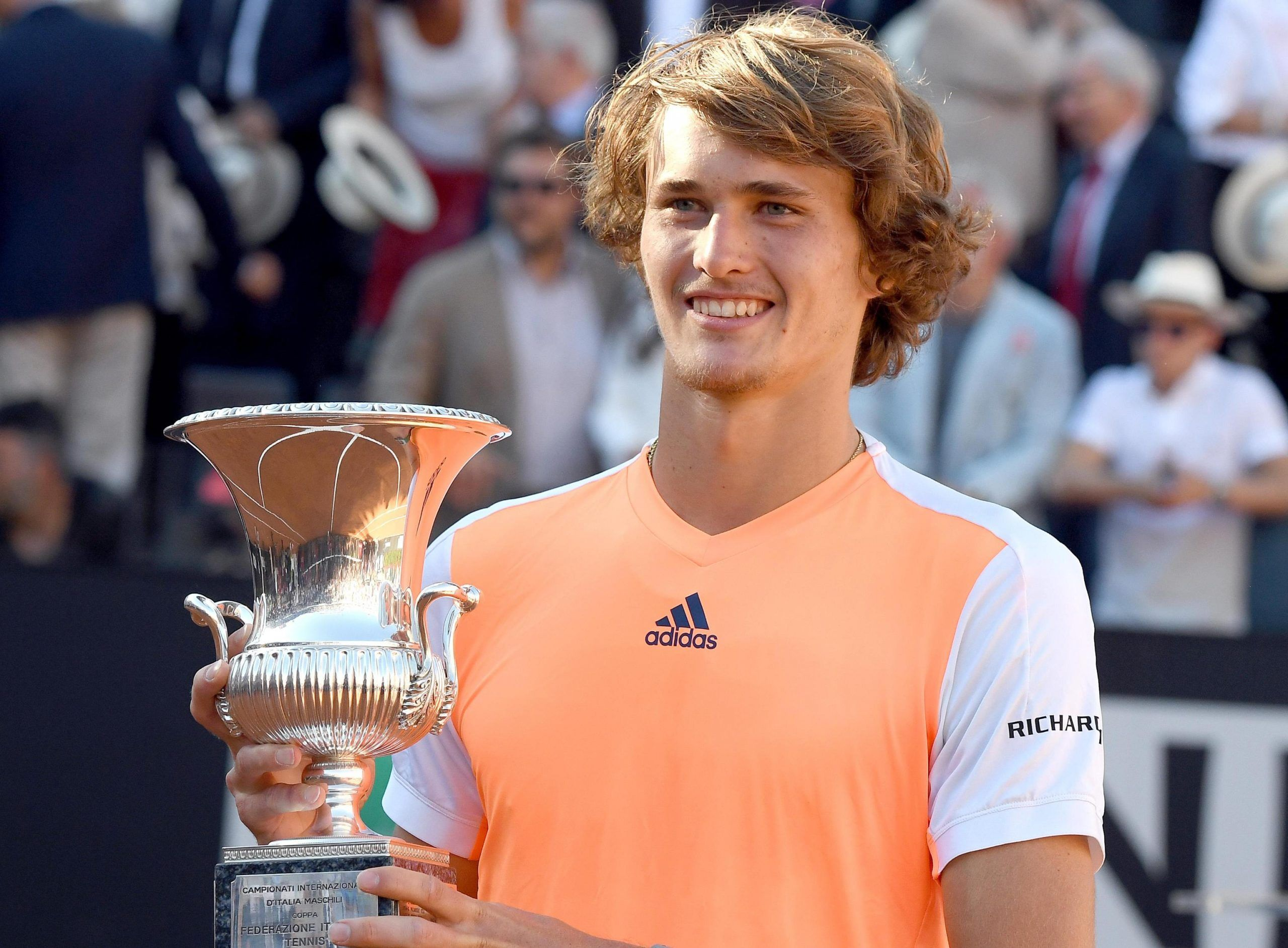 Italian Open tennis Alexander Zverev vince