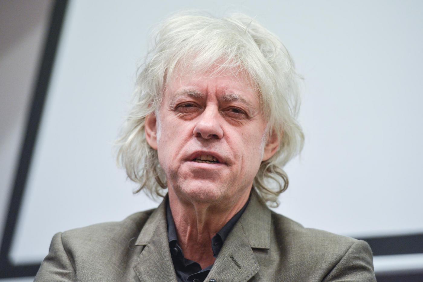 Bob Geldofincontra gli studenti a Dublino