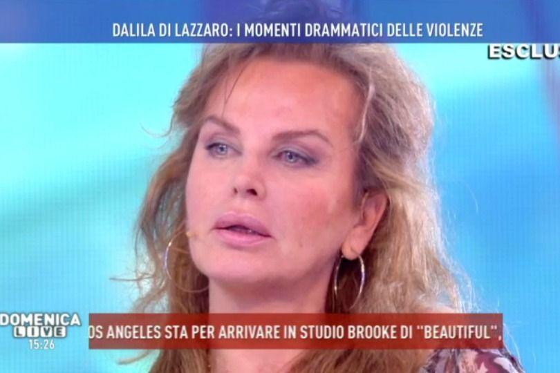 Dalila Di Lazzaro a Domenica Live: 'Violentata tre volte, la prima a sei anni'