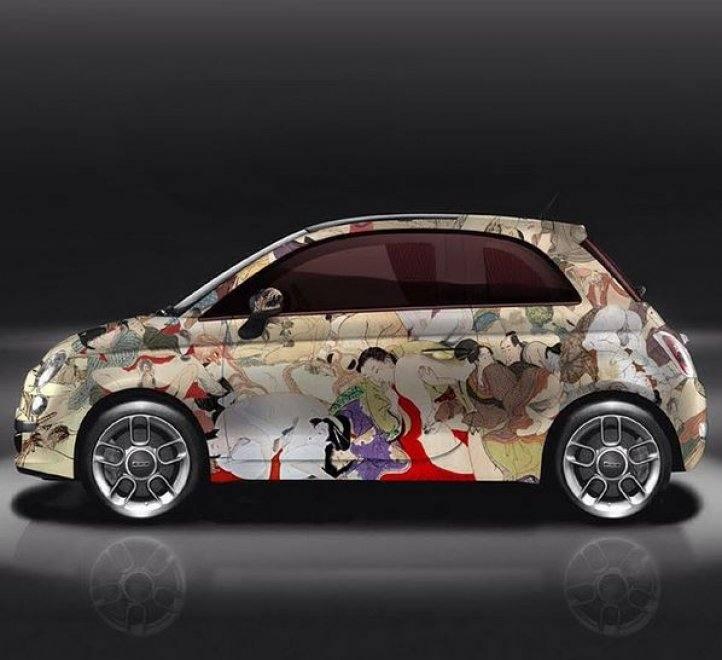 Fiat 500 Kar-masutra di Lapo Elkann: vedere per credere