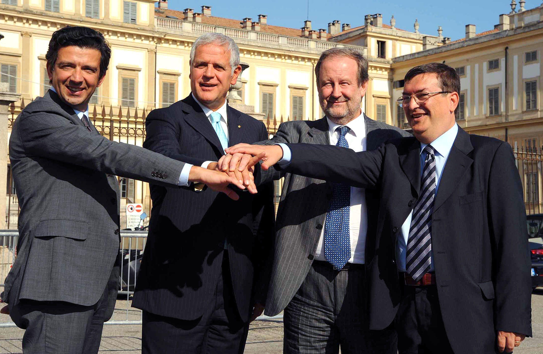 Pier Franco Maffe a destra