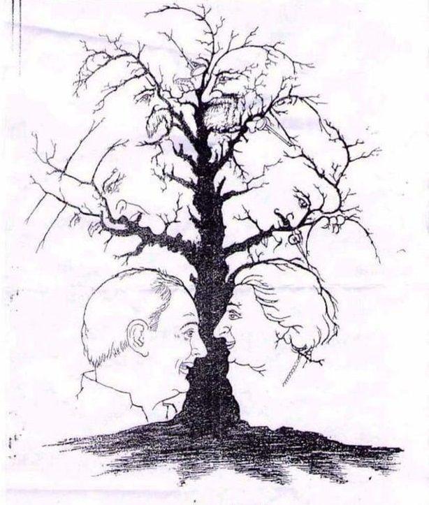 Quanti volti vedi? Indovina tutte le facce che compongono l'albero dei visi!