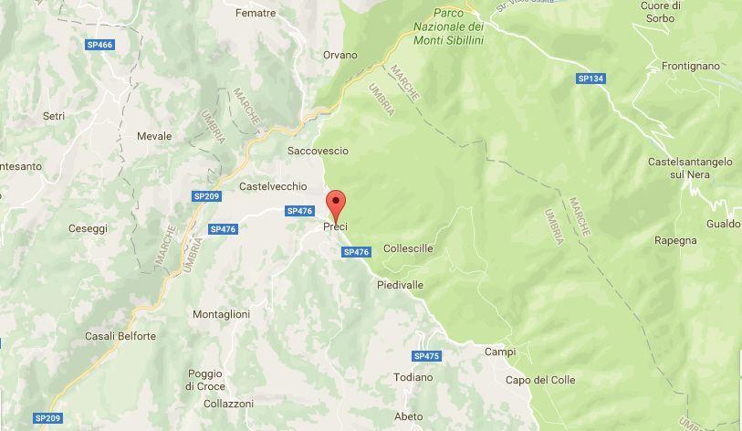 Terremoto in Umbria, oggi 16 maggio 2017: lieve scossa nella provincia di Perugia
