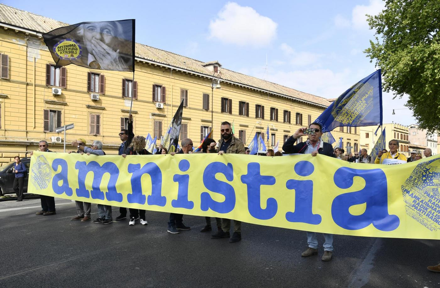 V Marcia per Amnistia, Giustizia e Liberta organizzata dal Partito Radicale
