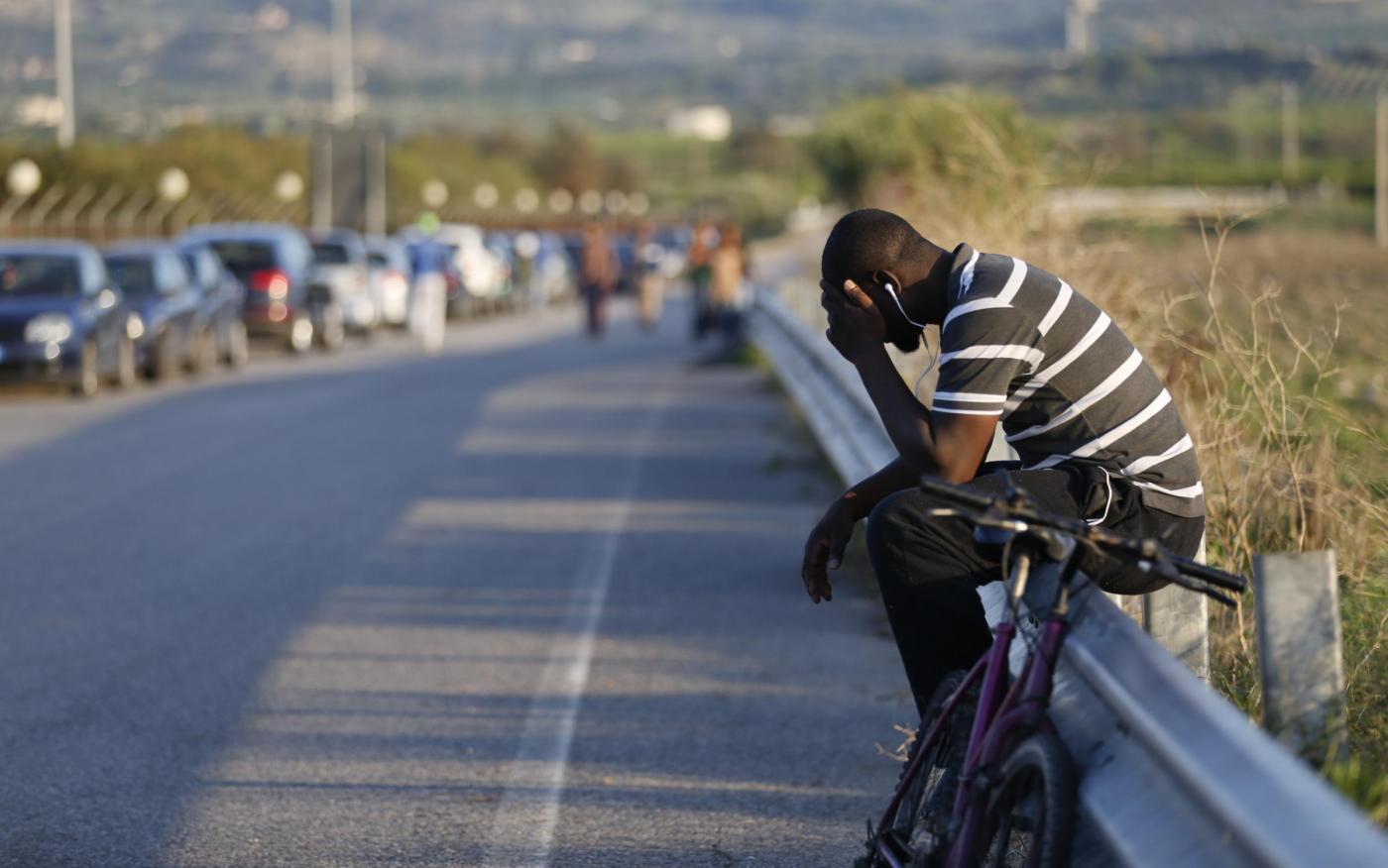 Italia, migranti al centro Cara di Mineo