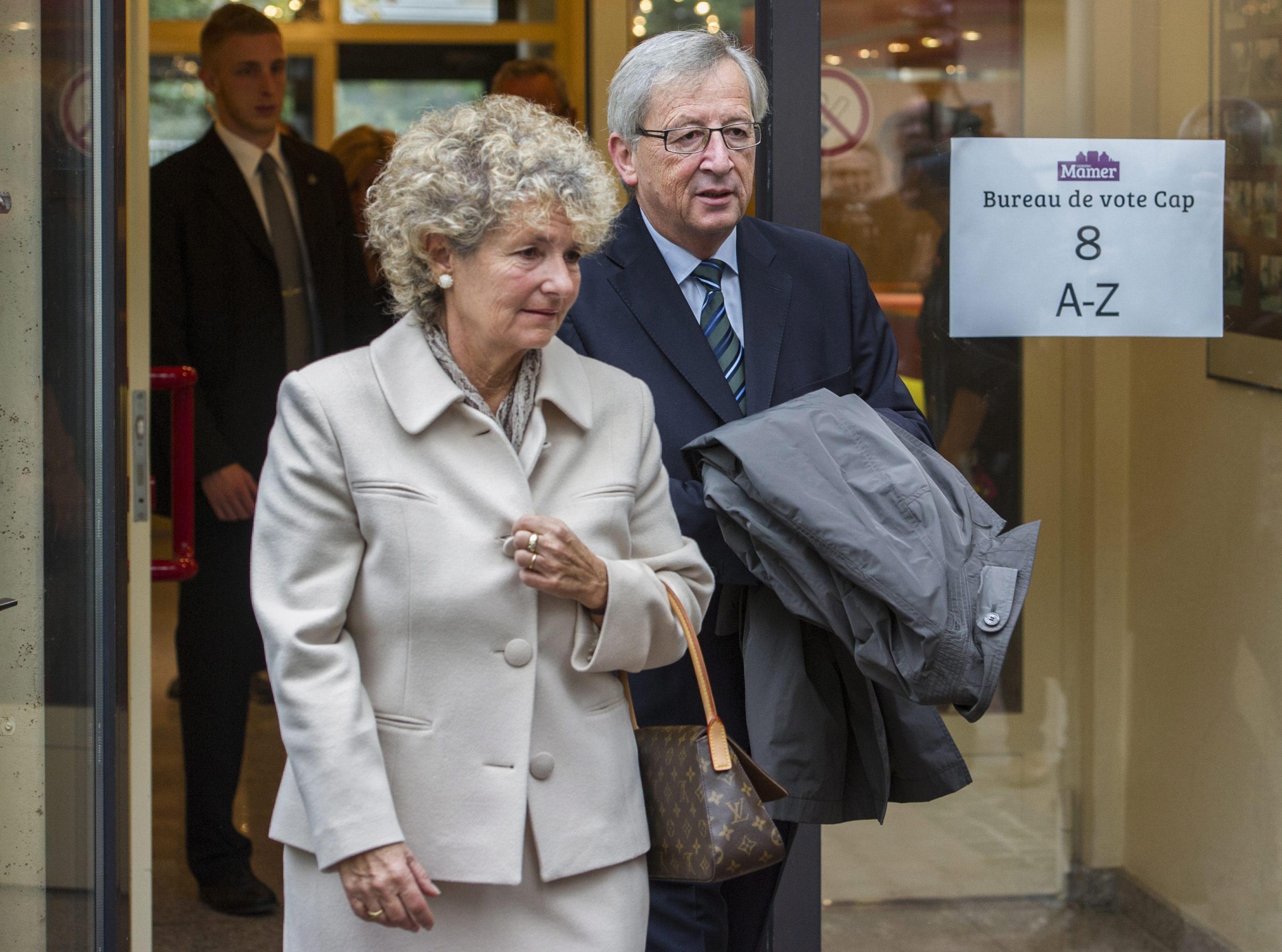 Jean Claude Juncker e la moglie Christiane Frising