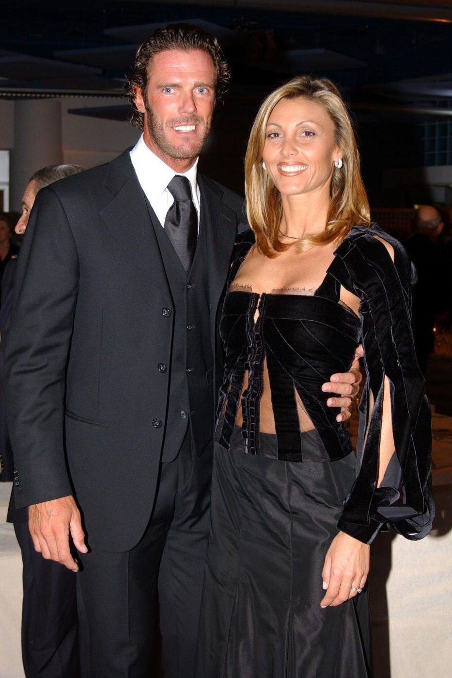 mario cipollini con la moglie