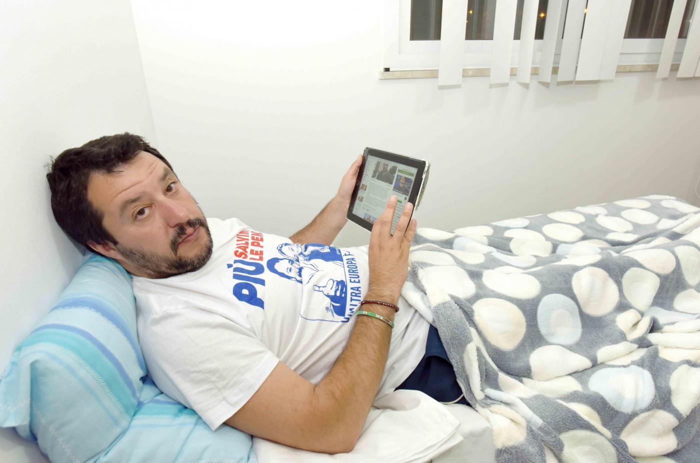 Matteo Salvini visita il CARA di Mineo