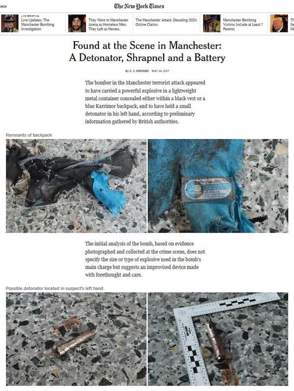 Manchester: foto bomba su Nyt, cresce ira Gb con Usa