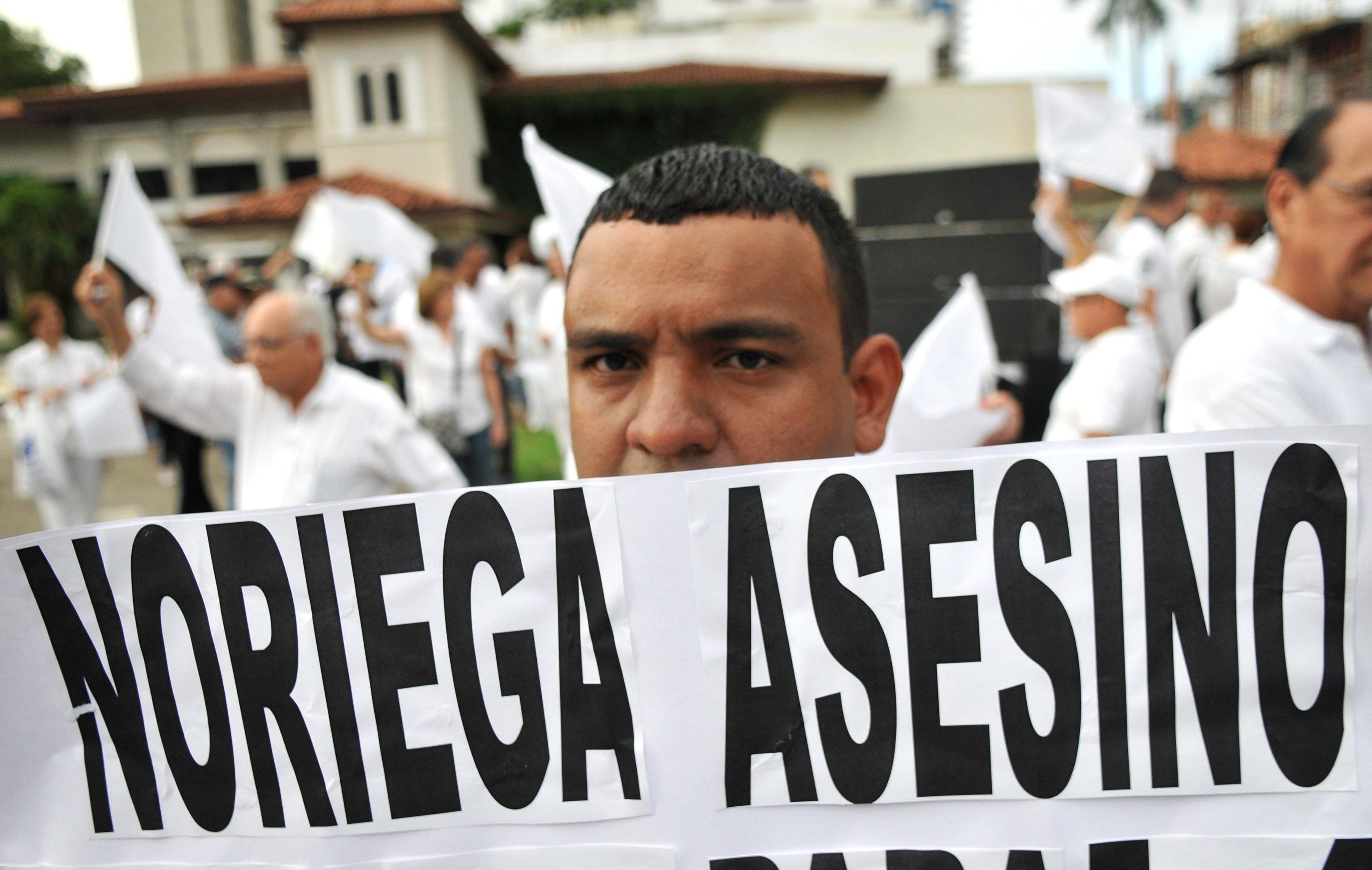 DEMONSTRATIONS AGAINST FORMER PANAMANIAN DICTATOR