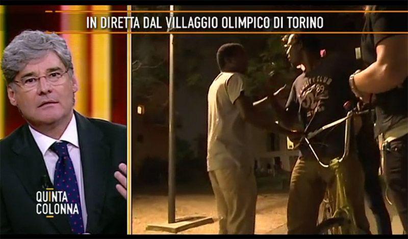 Quinta Colonna: l'inviata Elena Redaelli aggredita in diretta TV