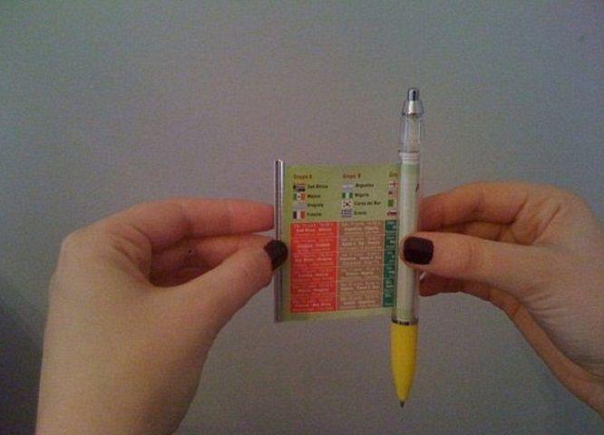 penna con bigliettino