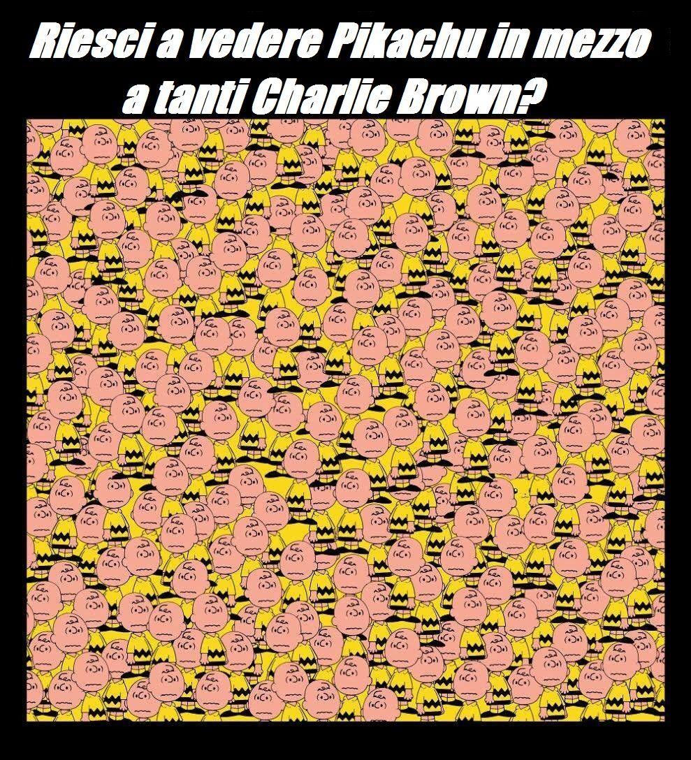 pikachu tra i charlie brown