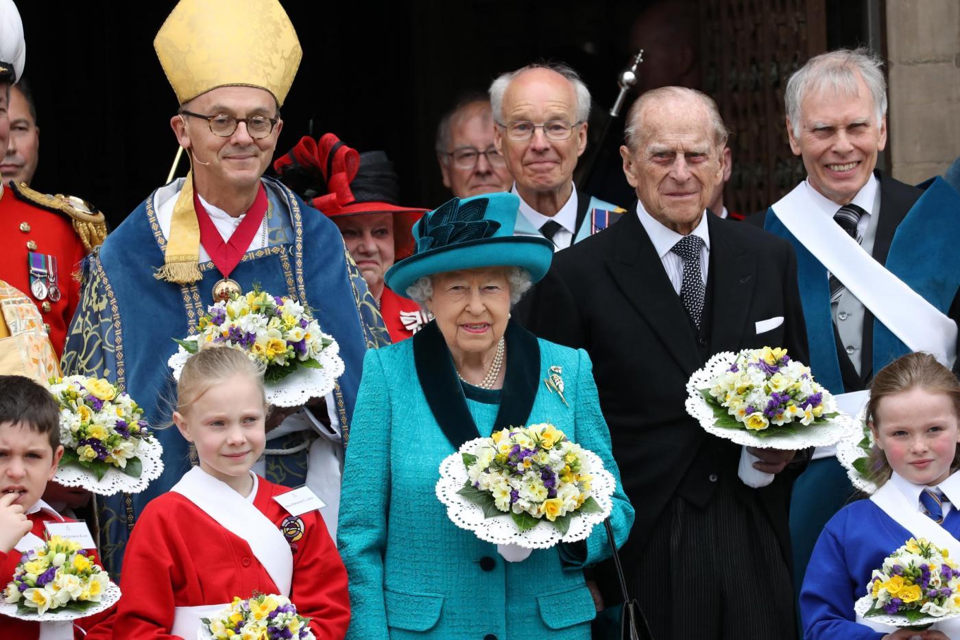 Regina Elisabetta al Royal Maundy Service nella cattedrale di Leicester