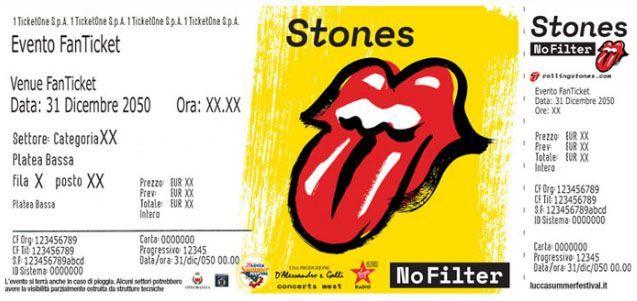 rolling stones biglietto