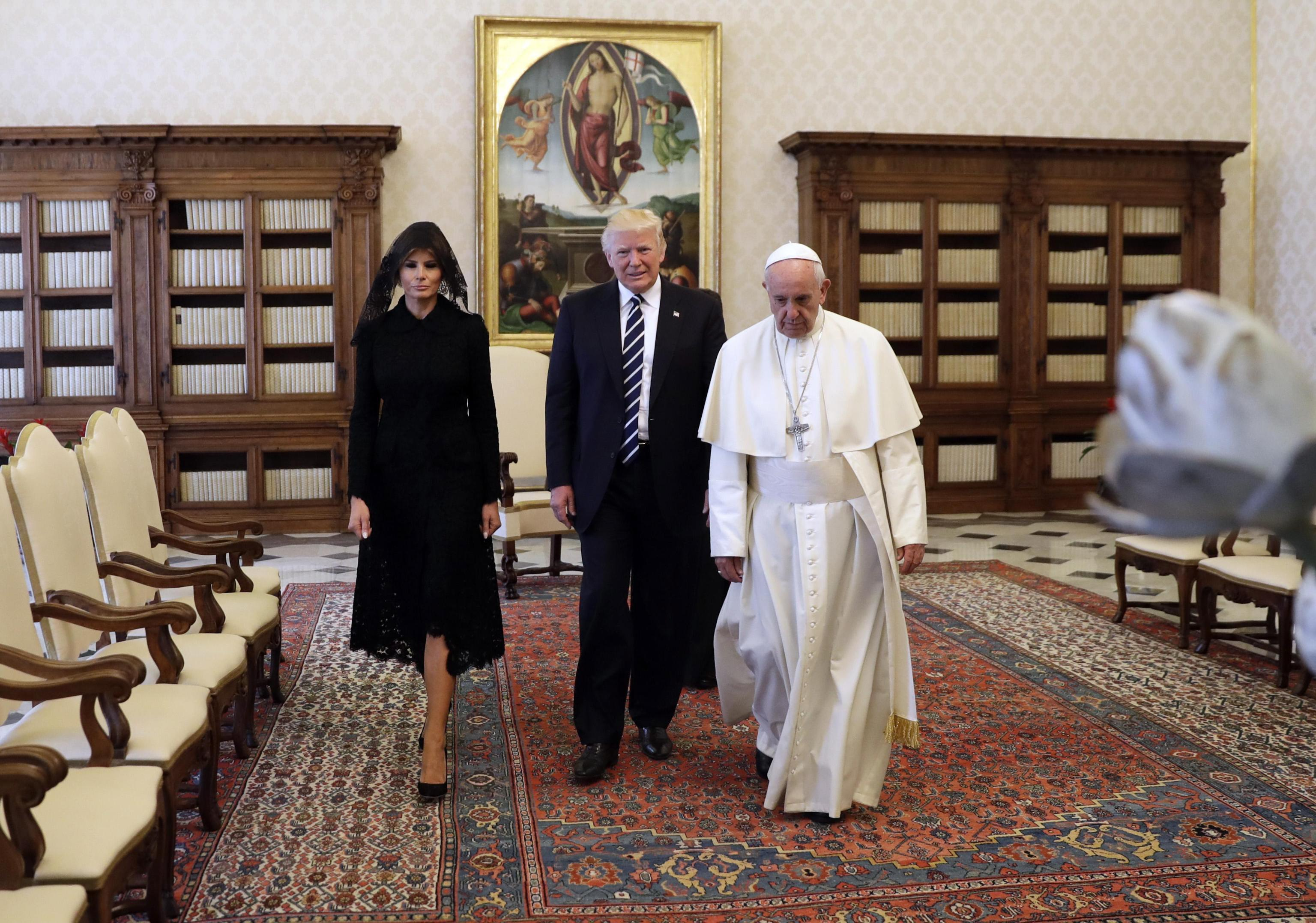 US President Donald J. Trump visits the Vatican