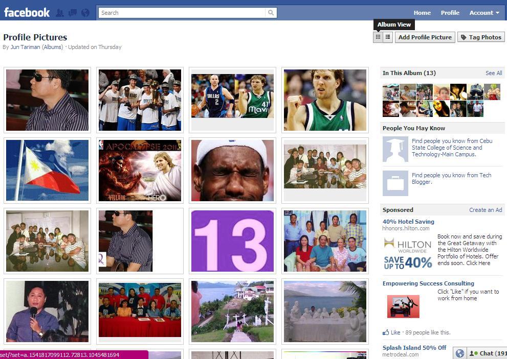 Facebook foto album