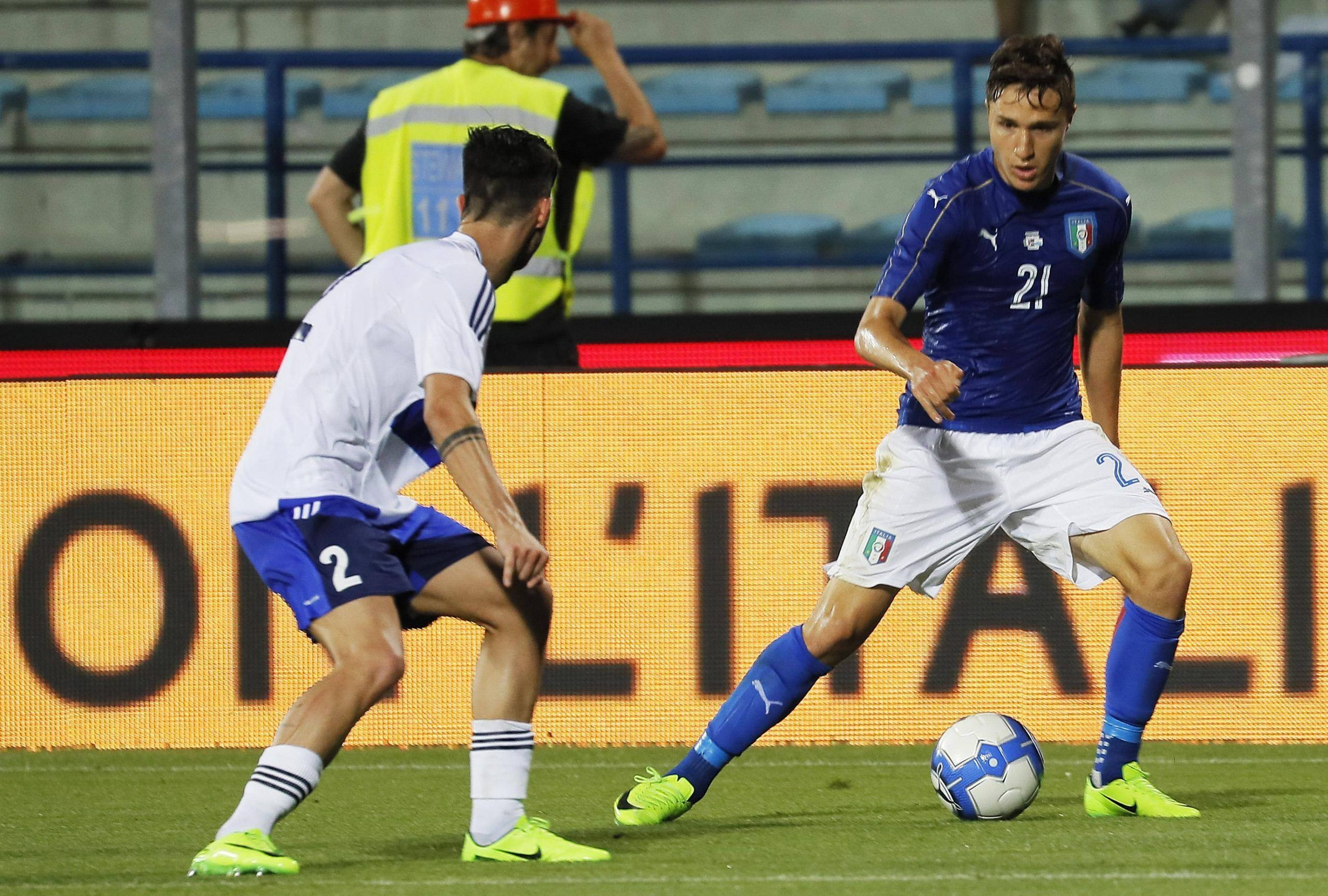 Soccer Italy's friendly match