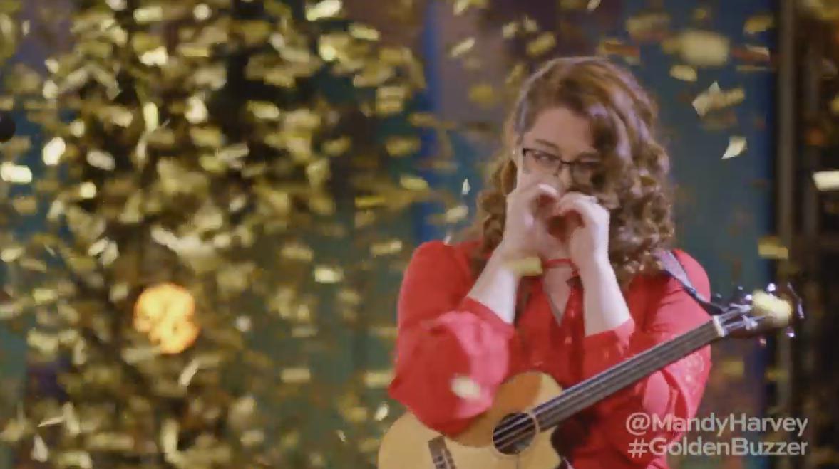 Mandy Harvey Golden Buzzer ad America's Got Talent