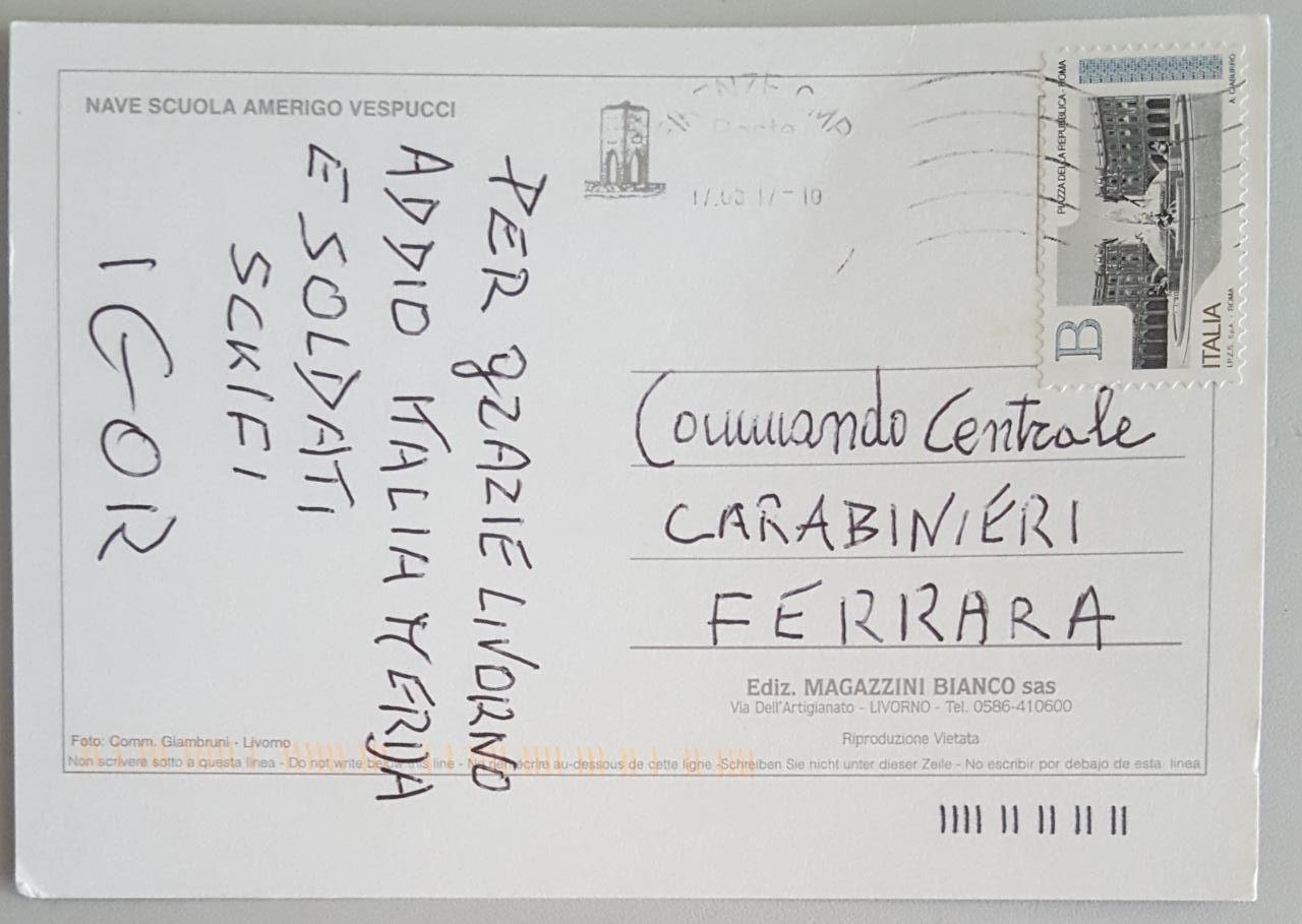 Igor il russo ultime notizie: cartolina da Livorno firmata Igor, si esamina la grafia