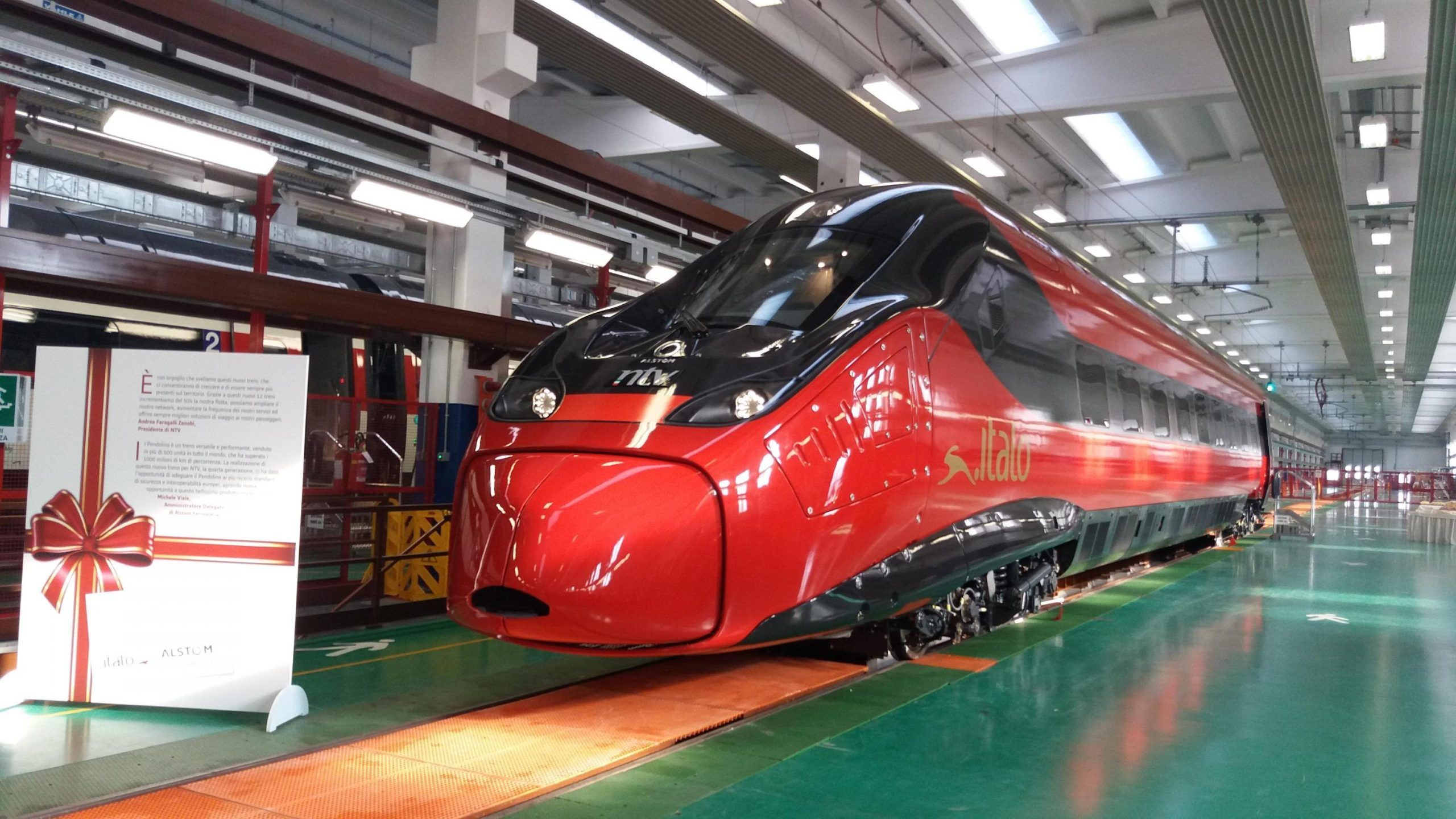 ITALO Treni alta velocita nuovo Pendolino Alstom per Ntv