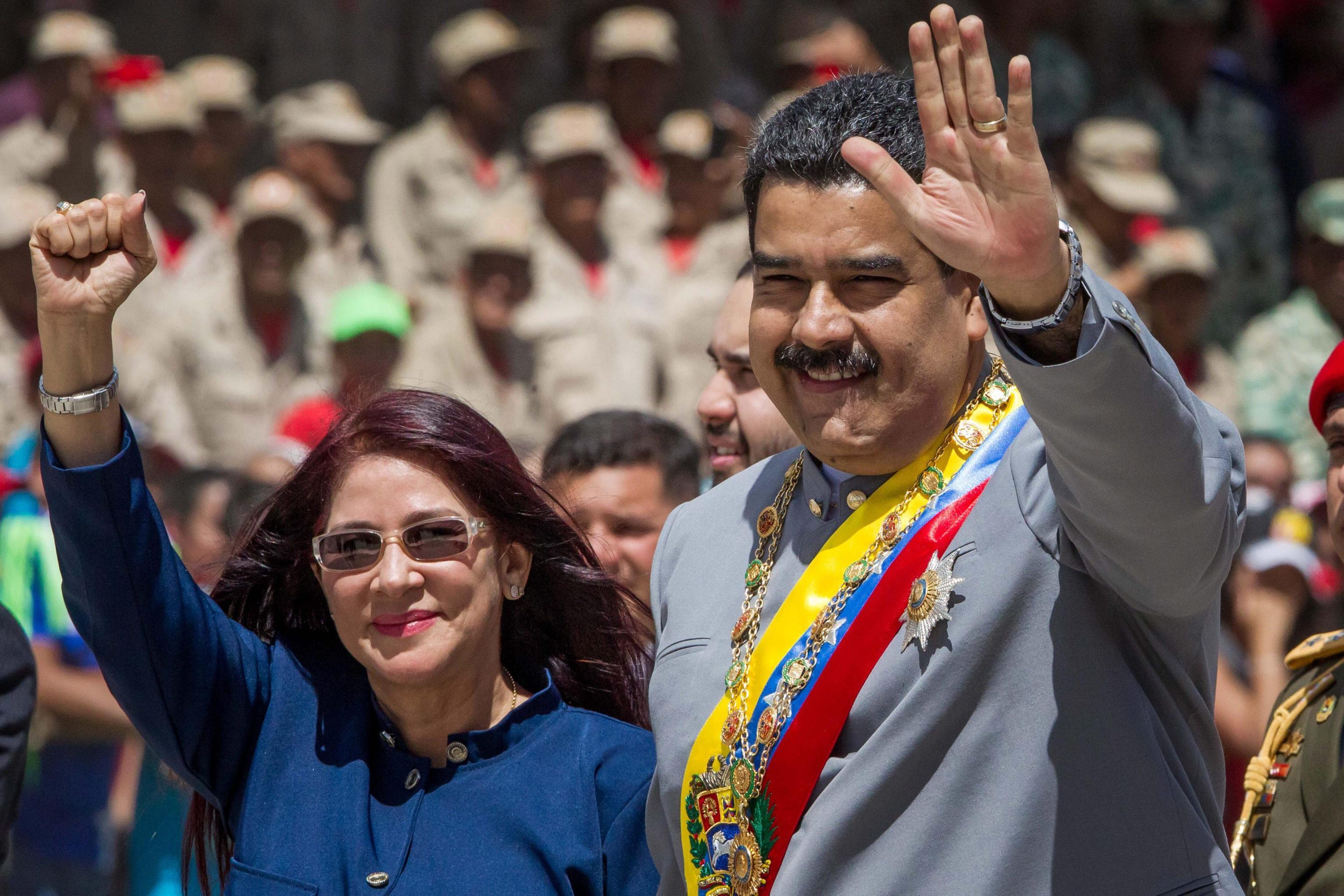 Maduro e moglie