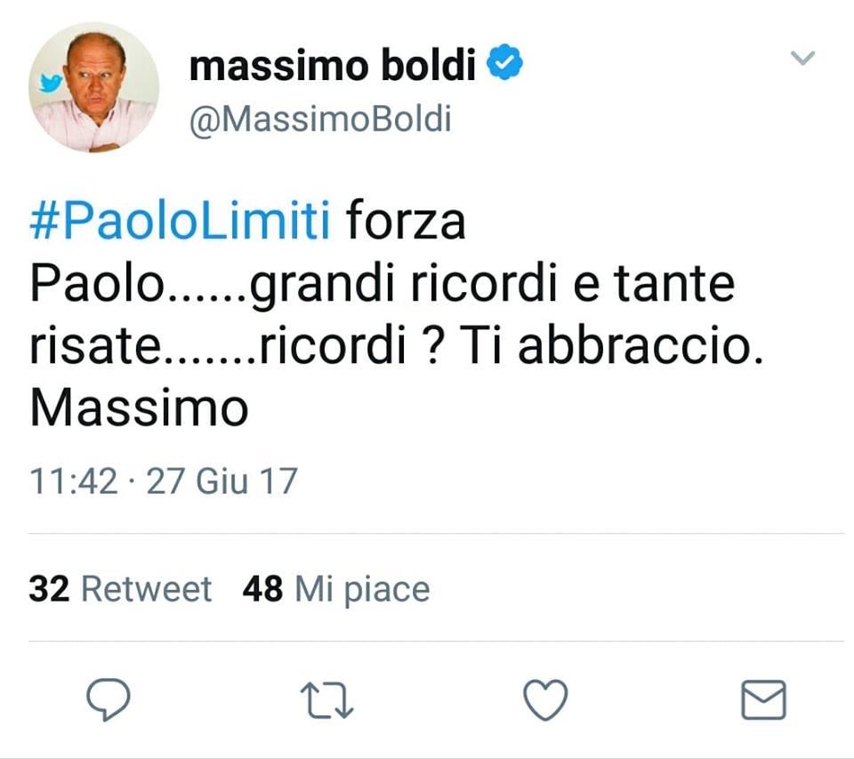 Massimo Boldi Twitter Paolo Limiti