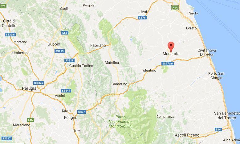 Scossa di terremoto a Macerata, ma è un errore tecnico dell'Ingv