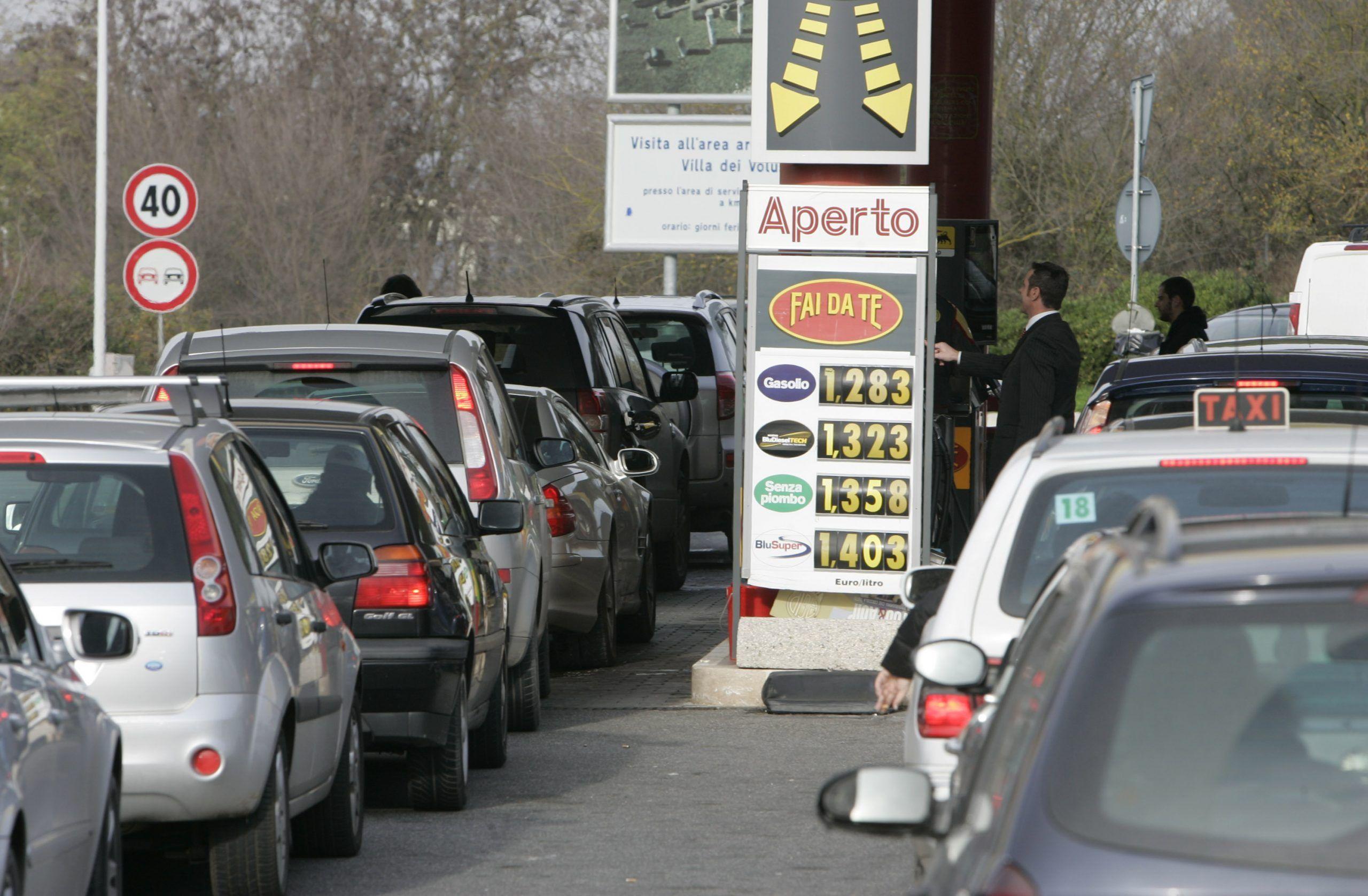 benzina in autostrada