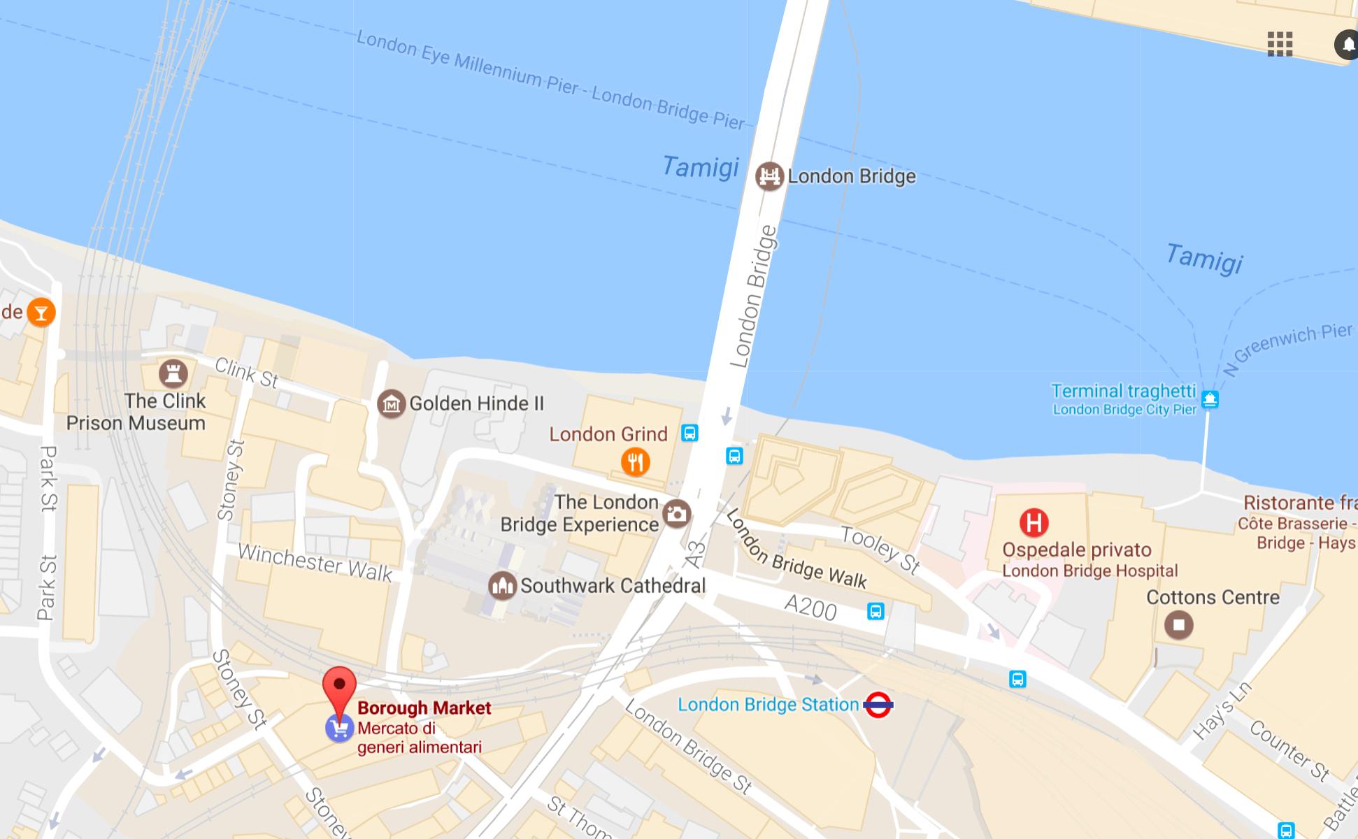 cartina londra