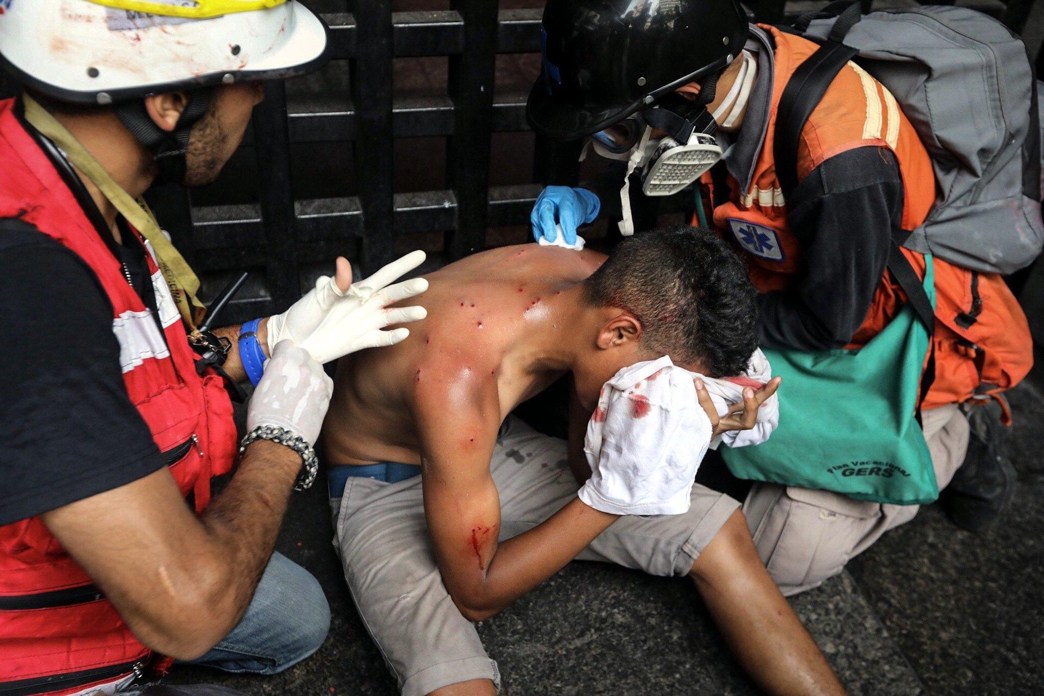 Protesters clash in Venezuela