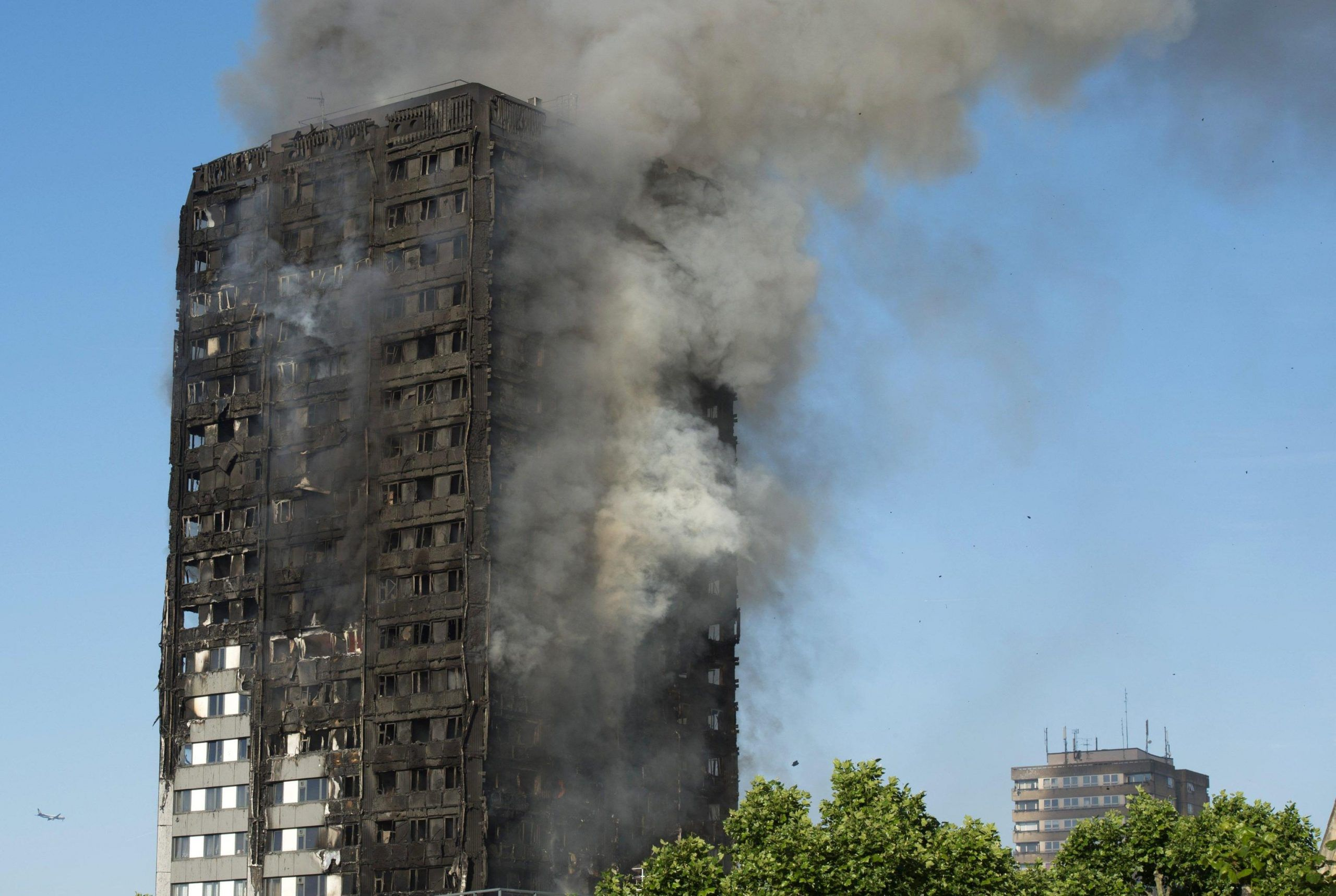 Fire at Lancaster West Estate in London