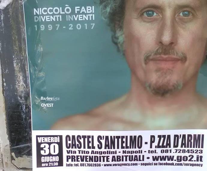 Niccolò Fabi, concerto di Napoli: la gaffe sui manifesti è clamorosa