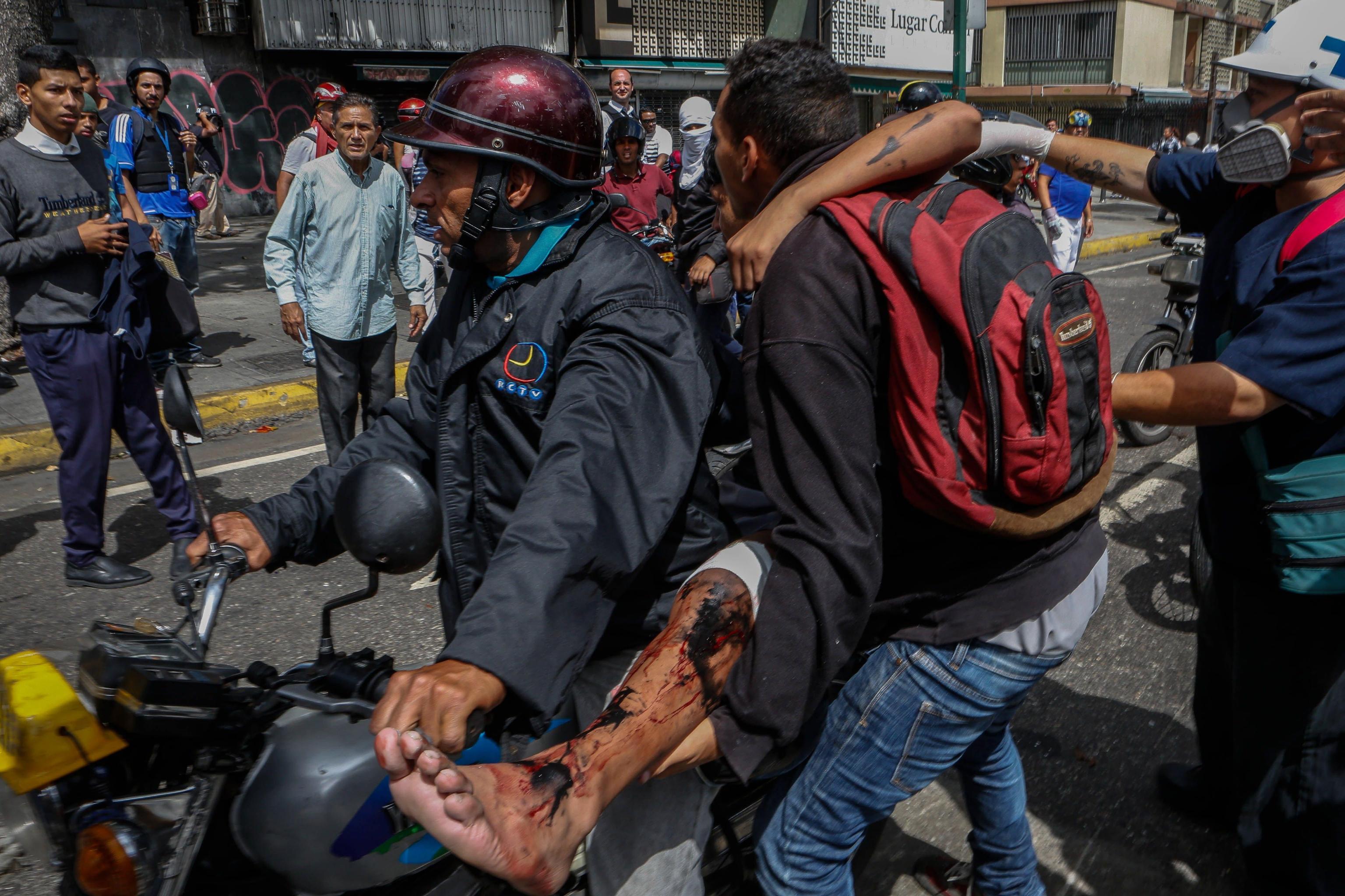 Protest broken up in east Caracas