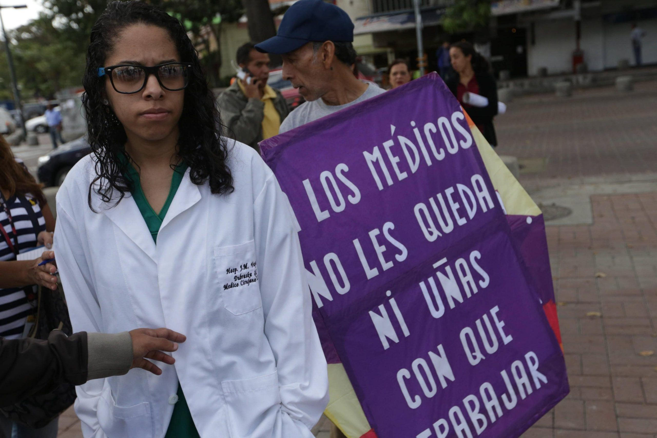 Students and health representatives demand action for the health sector in Venezuela