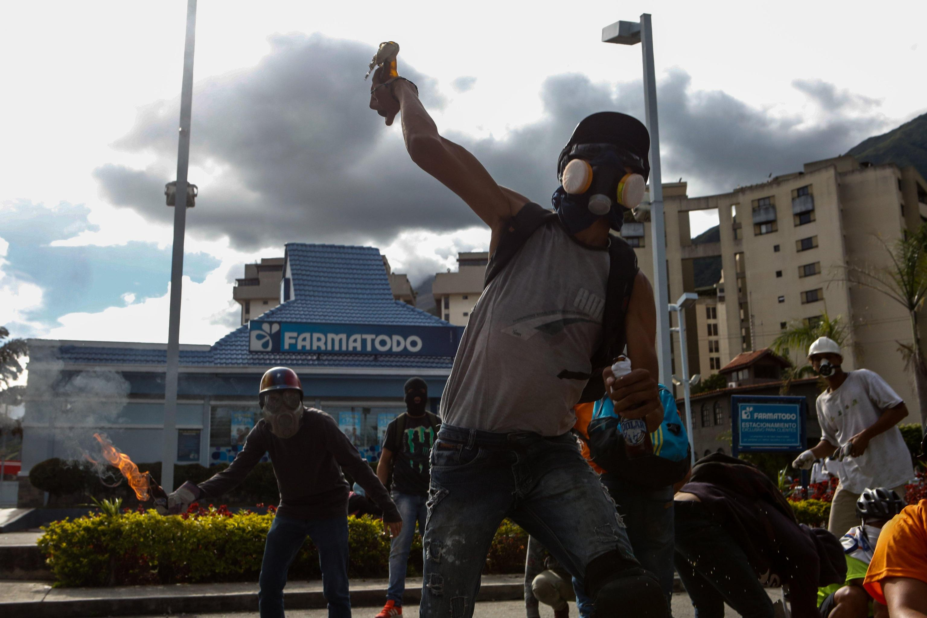 Protest broken up in east Caracas
