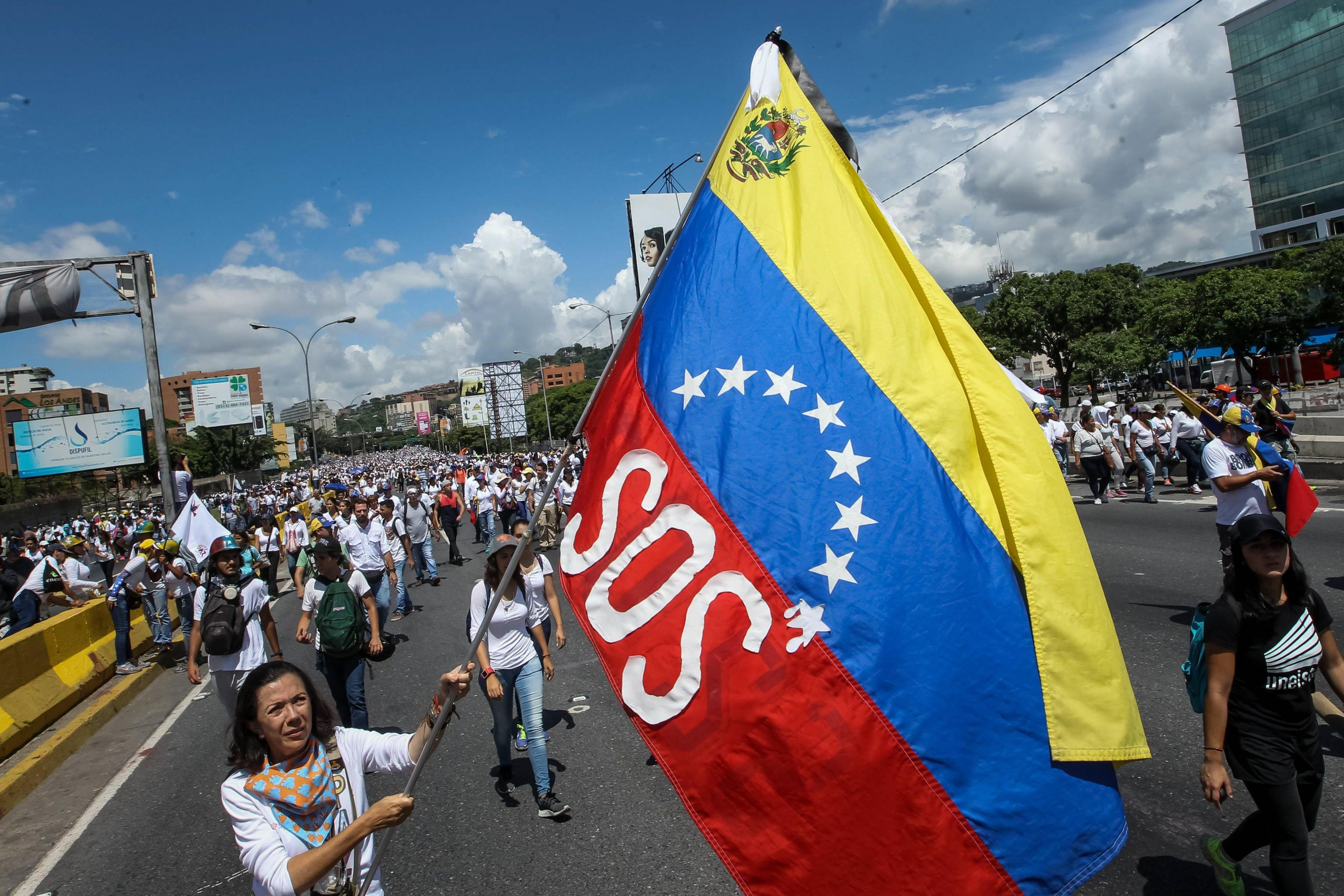 Protest against the Government in Caracas