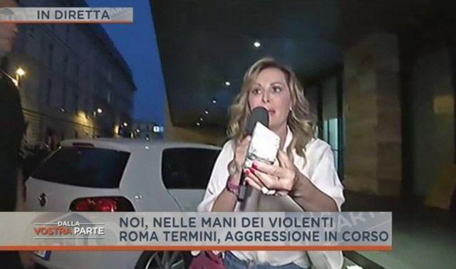 Dalla Vostra Parte: Daniela Santanchè aggredita in diretta TV