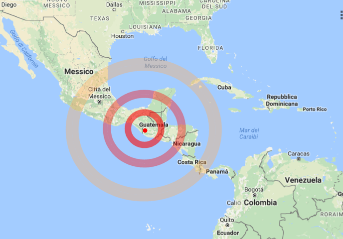 Terremoto in Guatemala oggi 14 giugno 2017: trema anche il Messico