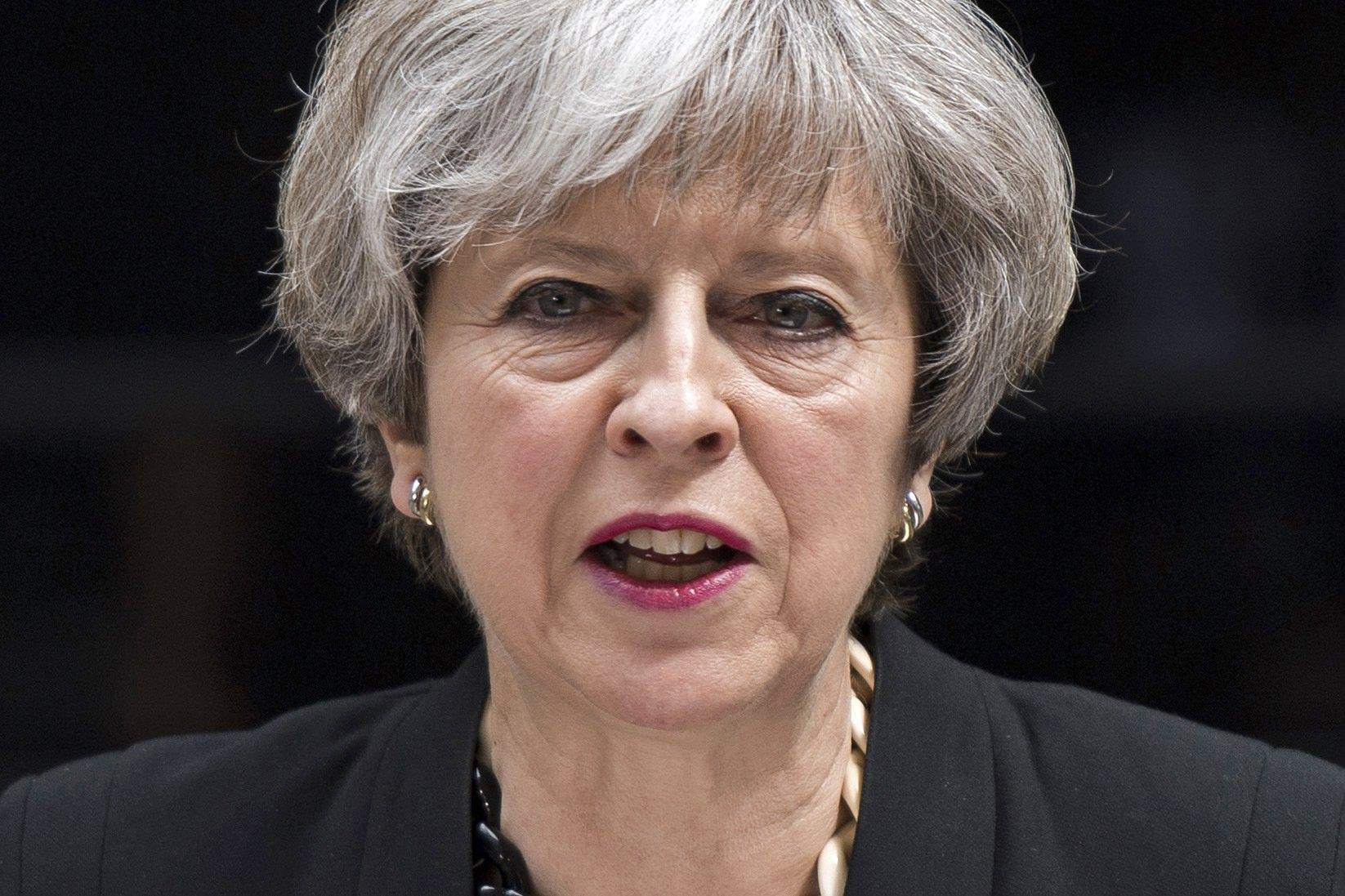 British PM May delivers statement on terrorist incident at London Bridge and Borough Market